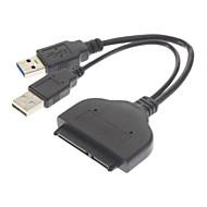 """ブラック(18センチメートル) - SATA 22ピン2.5 """"ハードディスクドライバアダプタケーブルへのUSB 3.0"""