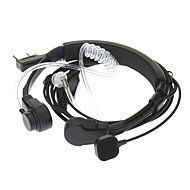 Kenwood 3,5 mm + 2,5 mm Udtrækkelig Throat Vibration Finger PPT Acoustic Tube øretelefon + Mic