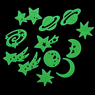 Motif 12PCS lumineux Univers Stickers muraux