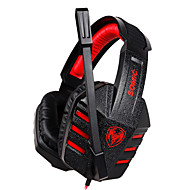 G927V2012 Sômica Stereo Gaming USB 7.1 canais de som Headphone Over-Ear com microfone e remoto para PC