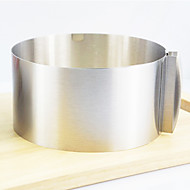 Retractable Circle Cake Ring, Stainless Steel Diameter:16-30cm Height:8.5cm