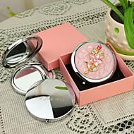 Presente personalizado Shivering Estilo Rosa Chrome espelho compacto
