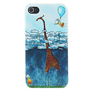 Children's Simplicity Giraffe and Human Embossed Pattern Matte Designed PC Hard Case for iPhone 4/4S