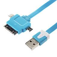 3 i 1 Noodle Flad USB Synkroniser data oplader kabel til Samsung & iphone Mobiltelefoner & Tabs