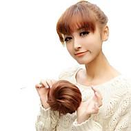 høj kvalitet bryllup bruden chignon bolle syntetisk 5 tommer paryk hår forlængelse