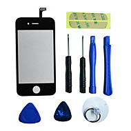 Repair LCD Front Screen Glass Lens Part с 3M Sticker and Tools для iPhone4 (Разные Цвета)