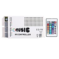 UUSI 3 Kanavat Max 9A Output Smart Current Common Anode IR Remote RGB LED-valaistus Music Controller (DC12V-24V)