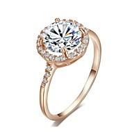 Statement-ringe Krystal Guldbelagt Imitation Diamond Fødselssten Gylden Smykker Bryllup Fest Afslappet