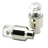 Eclairage arrière,Eclairage bouchons de roue ,fjqxz couleurs changeantes ingénierie sécurité des plastiques Lampe de valve pour vélo 2pcs