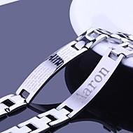 התכשיטים של אישית מתנות הגברים רוחב 1.2cm נירוסטה צמידי זיהוי בחריתה פלדה