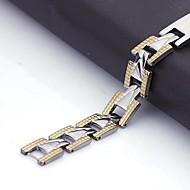 Εξατομικευμένη Ανδρικά Δώρο κοσμήματα από ανοξείδωτο χάλυβα Χαραγμένο ID Βραχιόλια 1,1 εκατοστά πλάτος