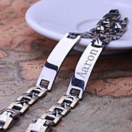 Joyería personalizada Hombre de regalo de acero grabado pulseras de identificación inoxidable 1.1cm Ancho