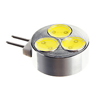 G4 3W 1x3SMD 5500-6500K 차가운 백색 빛 LED 반점 전구 (DC 12)