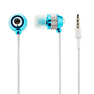 Estéreo de 3,5 mm para auscultadores In-Ear para iPhone/Samsung/MP3 (azul + prata)