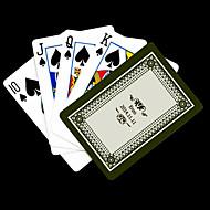 Personalisierte Geschenke Grau-Blumen-Muster-Spielkarte für Poker