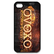OVOXO de outubro Very Own padrão plástico duro para o iPhone 4/4S