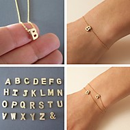 Bracelet/Chain Bracelet/Charm Bracelet,Letter Classic Gold Bracelet 23cm Friendship Bracelet for BestFriend 1 pcs Shixin®