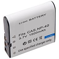 1500mAh 3.7V digitalkamera batteri NP-40 för Casio EX-Z30, Z40, Z50 och mer