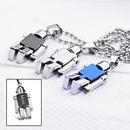 Personalizirani dar Nakit robot u obliku slova ugravirana ogrlica privjesak s 60 cm lanac
