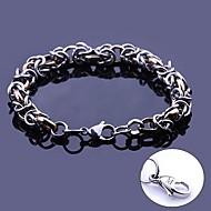 gepersonaliseerde gift handgemaakte RVS sieraden gegraveerd ketting schakel armbanden 0.8cm breedte