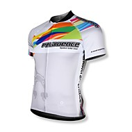 SPAKCT Men's Cycling Tops / Jerseys Short Sleeve Bike Summer Breathable / Quick Dry / Front Zipper / Wearable / YKK Zipper WhiteM / L /