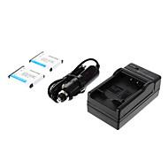 ismartdigi-Nik EN-EL10 (2 adet) 750mAh, NIKON S3000 S200, S500, S700 S5100 S4000 için 3.7V Pil Kamera + Araç şarj cihazı