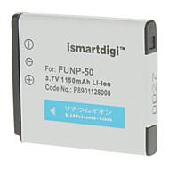 ismartdigi 1000mAh Batteri + Billaddare för Fuji NP-50 X10 F775 F750 F665 F600 F605 F550