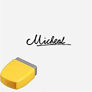 Gepersonaliseerde 13x33mm Cursive Engels Letters Patroon Gegraveerde penetratie Signet Stamp (binnen 8 Engels Letters, willekeurige kleur)