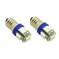 E10 1W 5X5050 SMD Azul Luzes Lâmpada LED para DIY (DC 12V, 2 pacotes)
