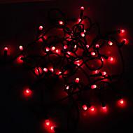 Waterproof 5M 3W 50-LED Red Light LED Strip Light (110V)