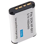 dste np-bx1 erstatning 1450mAh batteri for sony RX100 - grå