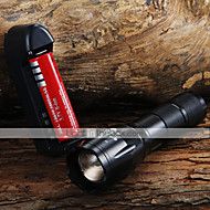 LED Flashlights/Torch / Handheld Flashlights/Torch LED 3 Mode 1600 Lumens Adjustable Focus Cree XM-L T6 18650Camping/Hiking/Caving /