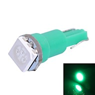T5 0.25W 14LM 1x5050 SMD LED Green Light Auto Ilmoitetaan / Dashboard / leveys Lamput (DC 12V,, 1kpl)