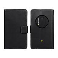のために Nokiakケース ウォレット / カードホルダー / スタンド付き ケース フルボディー ケース ソリッドカラー ハード PUレザー Nokia Nokia Lumia 1020