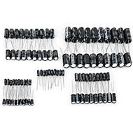 DIY e-aluminiowym kapslem 16V 22 ~ 2200uF elektrolityczne Kondensatory Pack dla DIY Project - Biały (9 x 10 szt)