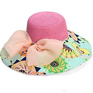 Moda feminina Big bowknot Folding Praia Hat