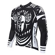 PALADIN® Maglia da ciclismo Per uomo Maniche lunghe Bicicletta Traspirante / Tenere al caldo / Asciugatura rapida / Resistente ai raggi UV