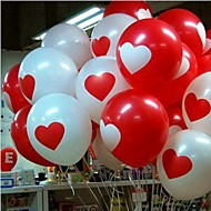 100pcs / lot12 Inch Bryllup Red Heart Balloon Birthday Party Balloons 3,2 g Latex Balloner for Lovers