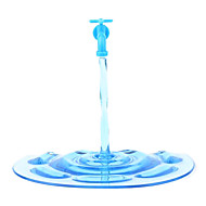 Phone Stand with Water Flowing Look for Mobile Phones (Translucent Blue)