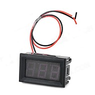 HZDZ 3 chiffres LED rouge numérique mètre de tension (DC 4.5V ~ 30.0V)