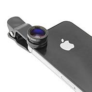 Lentilă Fish Eye Macro Argintie În Set Cu Clip De Telefon Mobil