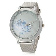 Damen Modeuhr Quartz Legierung Band Blume Silber Marke-