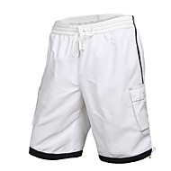 Mænds Polyester Sort Hvid Surf Beach Short