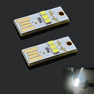 exLED Ultrathin USB 2.0 0.2W 22lm 3-LED blanche Mobile Power USB Light (2 PCS)