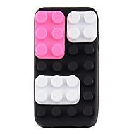 Silikoni DIY suojakotelo iPhone4/4s (musta ja violetti)