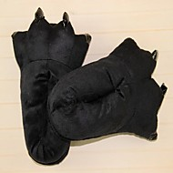 Kigurumi Pajamas Panda Shoes / Slippers Festival/Holiday Animal Sleepwear Halloween Black Solid Cotton / Polyester Slippers For Unisex