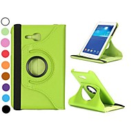 360 Rotating Elastic Belt Stand Auto Sleep/Wake Leather Case for Samsung Galaxy Tab 3 Lite T110