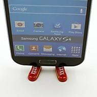 Spain Football Team National Flag Shoes Shaped Stand Bracket Dustproof Plug for Samsung S3 S4 S5