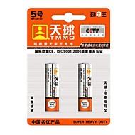 TMMQ R6P AA 1.5V High Capacity Mercury-fri batterier (2pcs)