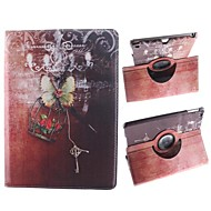 The Small Basket and Key Design 360 Degree Rotating PU Leather Case with Stand for iPad Air